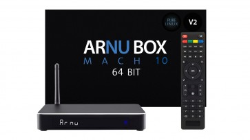 ARNU Box Mach 10 64bit V2 - Pure Linux - Kodi 17.3 - Wireless AC - New Sleek Case